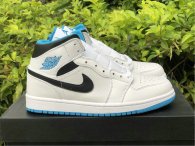 "Authentic Air Jordan 1 Mid GS ""Laser Blue"""