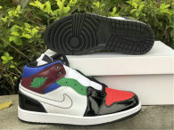 Authentic Air Jordan 1 Mid SE GS Noir/Unversite Rouge/Blanc