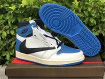 "Authentic Travis Scott x Fragment x Air Jordan 1 High OG SP ""Military Blue"""