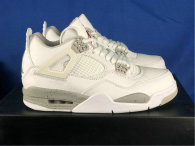 "Authentic Air Jordan 4 ""White Oreo"""