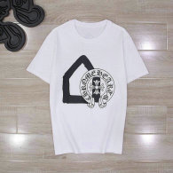 Chrome Hearts short round collar T-shirt M-XL (73)