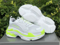 Balenciaga Triple-S White/Fluorescent Green