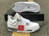 "Authentic Air Jordan 4 ""White Oreo"""