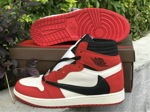 Authentic Travis Scott x Air Jordan 1 White Red