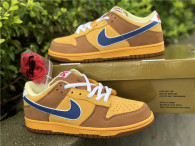 Authentic Nike SB Dunk Low Gold/Atlantic Blue/Bleatl