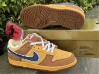 Authentic Nike SB Dunk Low Gold/Atlantic Blue/Bleatl (women)