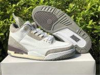 Authentic A Ma Maniere x Air Jordan 3 White/Medium Grey