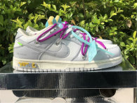 Authentic Off-White x Nike Dunk Low Beige Grey (women)