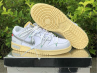 """Authentic Off-White x Nike SB Dunk Low """"1/50"""" White/Silver"""