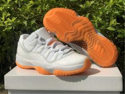 "Authetntic Air Jordan 11 Low GS ""Bright Citrus"""