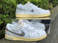 Authentic Off-White x Nike SB Dunk Low White/Silver (women)