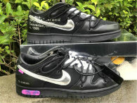 """Authentic Off-White x Nike Dunk Low """"50 of 50"""" Black/Silver (women)"""