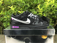 """Authentic Off-White x Nike Dunk Low """"50 of 50"""" Black/Silver"""