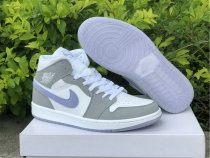 Authentic Air Jordan 1 Mid WMNS Grey/White/Icy Soles