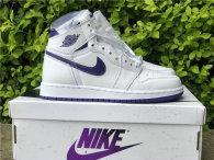 """Authentic Air Jordan 1 High OG WMNS """"Court Purple"""" GS"""