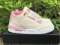 Authentic Air Jordan 3 GS Pink Gris/Rose