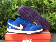 Authentic UNDEFEATED x Nike Dunk Low Blue/Purple