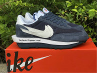 Authentic Fragment x sacai x Nike LDWaffle Viod Blue/White