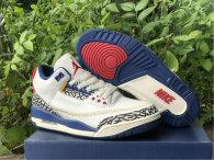 Authentic Air Jordan 3 Retro White/Blue