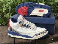 Authentic Air Jordan 3 GS White/Blue