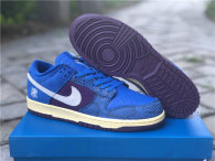 Authentic Undefeated x Nike Dunk Low Royal/Purple-White
