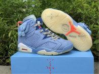 Authentic Travis Scott x Air Jordan 6 Blue/White