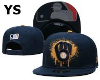 MLB Milwaukee Brewers Snapback Hat (22)