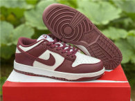 Authentic Nike Dunk Low White/Wine Red