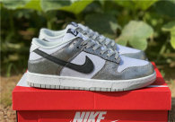 Authentic Nike Dunk Low Silver/White/Black