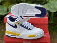 Authentic Nike Air Flight 89 Yellow/White/Blue