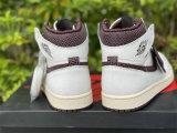 Authentic A Ma Maniere x Air Jordan 1 High OG Sail/Burgundy Crush