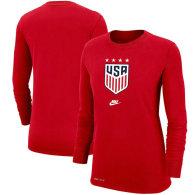 USWNT Nike Women's 4-Star Performance Long Sleeve T-Shirt - Red