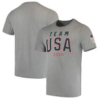 Team USA 2020 Olympics Road to Tokyo Tri-Blend Outer Lines T-Shirt - Heathered Gray
