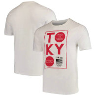 Team USA 2020 Olympics Road to Tokyo Squared T-Shirt - White