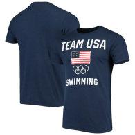 USA Swimming Team Flag Training T-Shirt - Navy