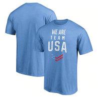 Team USA Fanatics Branded Distressed Stack T-Shirt - Blue