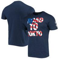 Team USA 2020 Summer Olympics Tokyo Waves T-Shirt - Navy