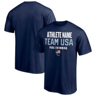 Team USA Paralympic Swimming Fanatics Branded Athlete Futures Pick-An-Athlete Roster T-Shirt - Navy