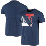 Team USA Diagonal By Line Play T-Shirt - Navy