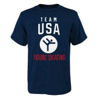 Team USA 2018 Winter Olympics Figure Skating Team Sport Pictogram T-Shirt - Navy