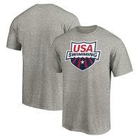 USA Swimming Fanatics Branded Primary Logo Big & Tall T-Shirt - Heathered Gray