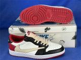 Authentic Travis Scott x Fragment x Air Jordan 1 Low OG Red/Black/White