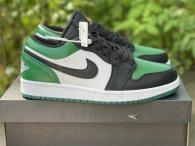 "Authentic Air Jordan 1 GS Low ""Green Toe"""