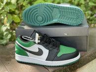 """Authentic Air Jordan 1 Low """"Green Toe"""""""
