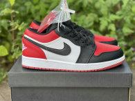 """Authentic Air Jordan 1 Low """"Bred Toe"""""""