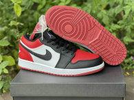 """Authentic Air Jordan 1 GS Low """"Bred Toe"""""""