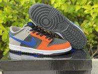 Authentic Nike Dunk Low Black/Grey/Orange/Blue