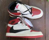 Authentic Travis Scott x Air Jordan 1 High OG Gym Red/Black/White GS