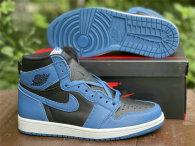 """Authentic Air Jordan 1 High OG """"Dark Marina Blue"""" GS"""