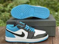 """Authentic Air Jordan 1 Low """"Laser Blue"""""""